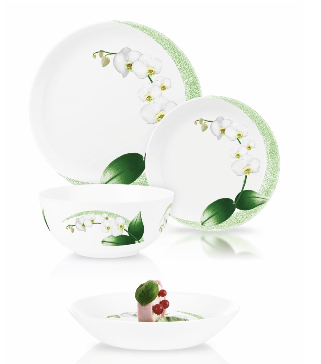 Столовый сервиз Luminarc Diwali White Orchid 19 пр.