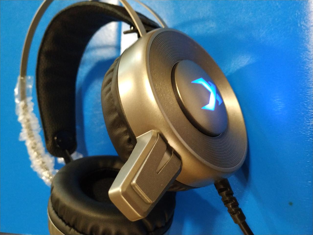 Игровые наушники XIBERIA V12 USB, с микрофоном и подсветкой 7.1,Алматы