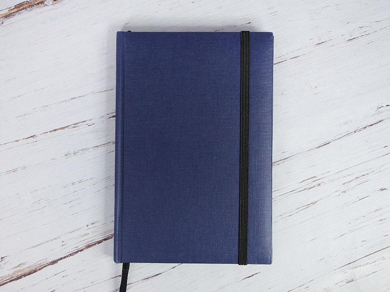 Ежедневник с твердым переплетом. Тёмно-синий
