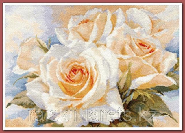 """Набор для вышивания крестиком """"Белые розы"""" 2-32"""