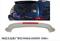 Спойлер на багажник на Toyota Highlander 1998-2008 со стопом (Некрашеный), фото 1