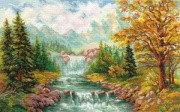 """Набор для вышивания крестиком """"Горный водопад """" 3-09"""
