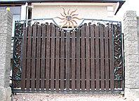 Откатные ворота художественная ковка, фото 1