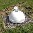 Основание для флагштока - бетонная сферическая тумба, фото 2