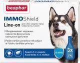Beaphar IMMO Капли от блох и клещей для собак средних и крупных пород, 3 пипетки Shield Line-on