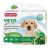 Beaphar VETO pure Puppy Беофар капли для щенков от блох, клещей и комаров 3 пипетки, фото 1