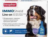 Beaphar IMMO Shield Line-on Капли от блох и клещей для собак крупных пород свыше 30 кг, 3 пипетки
