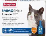 BEAPHAR IMMO Shield Line-on Капли от блох и клещей для кошек, 3 пипетки