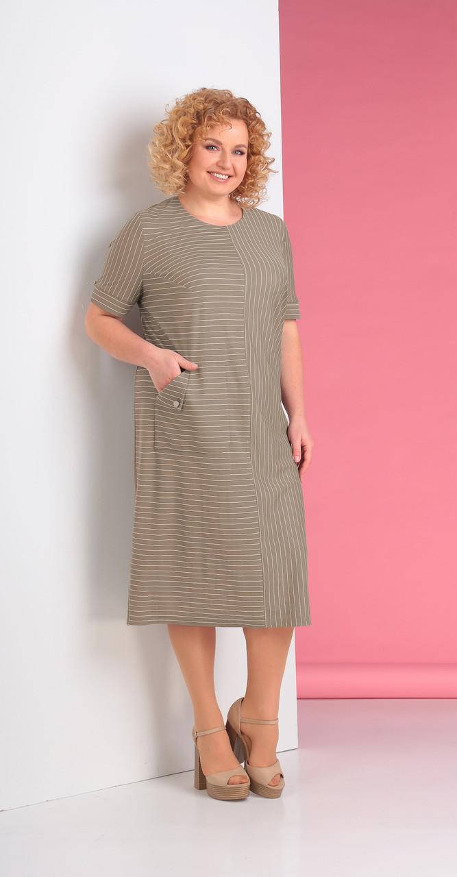 Платье Novella Sharm-3220-3, бежевые тона, 58