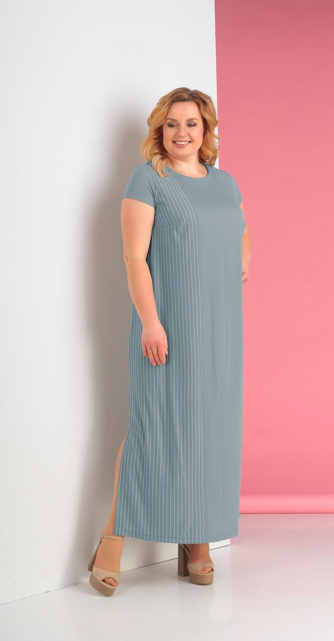 Платье Novella Sharm-3243-c, бледно-голубой, 58