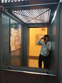 Зеркало в лифт 2