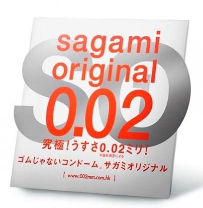 """Полиуретановые презервативы """"Sagami Original 002"""", 1 штука"""