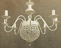 Люстра подвесная на 10 рожков Белая , фото 1