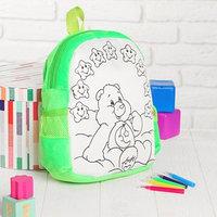 Рюкзак с рисунком под роспись 'Мишка'  фломастеры 5 цветов, цвета МИКС