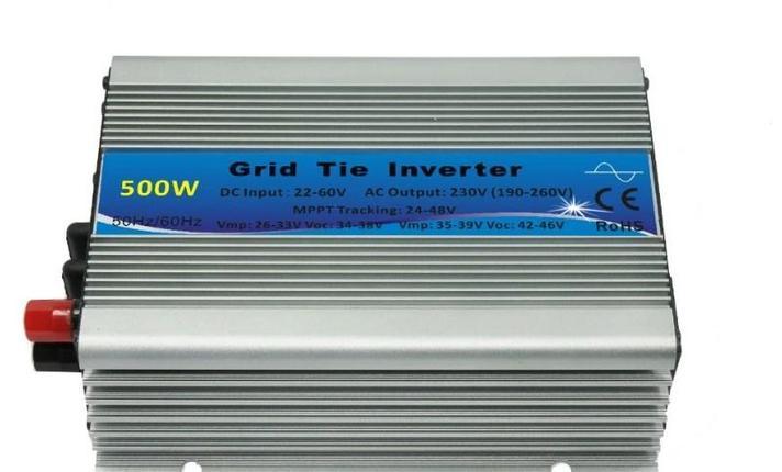Нормальный небольшой микро Инвертор 500 ватт сетки галстук солнечной системы, фото 2