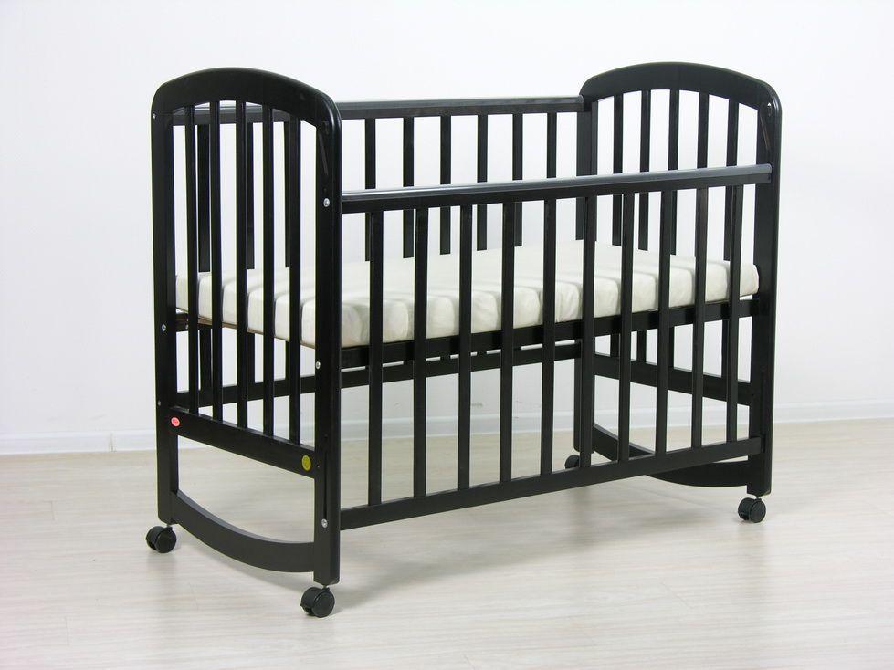 Детская кроватка Фея 304 колеса Палисандр