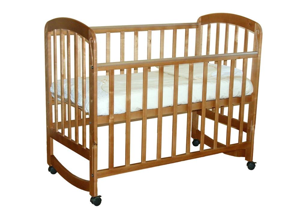 Детская кроватка Фея 304 колеса, качалка Медовый