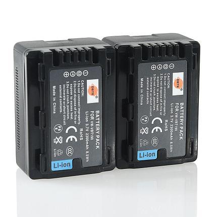 Аккумуляторы VW-VBT190 от DSTE на камеры Panasonic HC-V720GK HC-V520GK HC-V210GK, фото 2