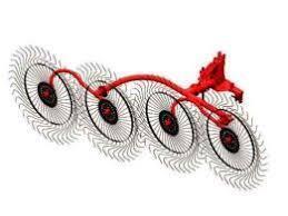 Грабли-ворошилки 4 колеса