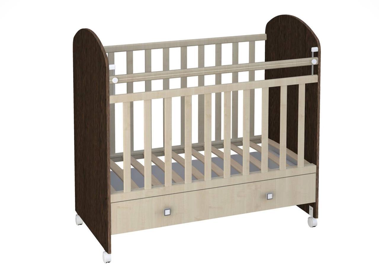 Детская кроватка Фея 700 Венге/Клен