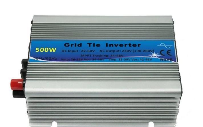 На сетке галстук инвертора 500 Вт 24VDC 50 Гц Micro солнечной энергии., фото 2