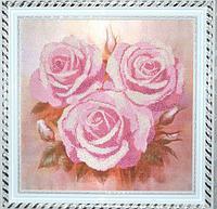 """Схема для вышивания бисером """"Розовые розы"""" НИК 9515"""