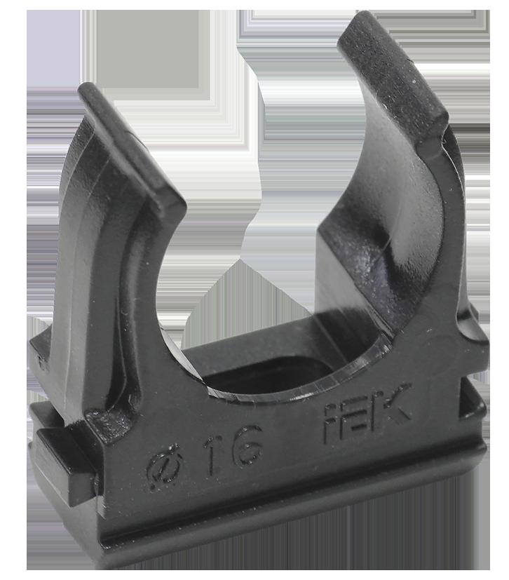 Держатель с защёлкой CF25 IEK черный (10 шт/комп)