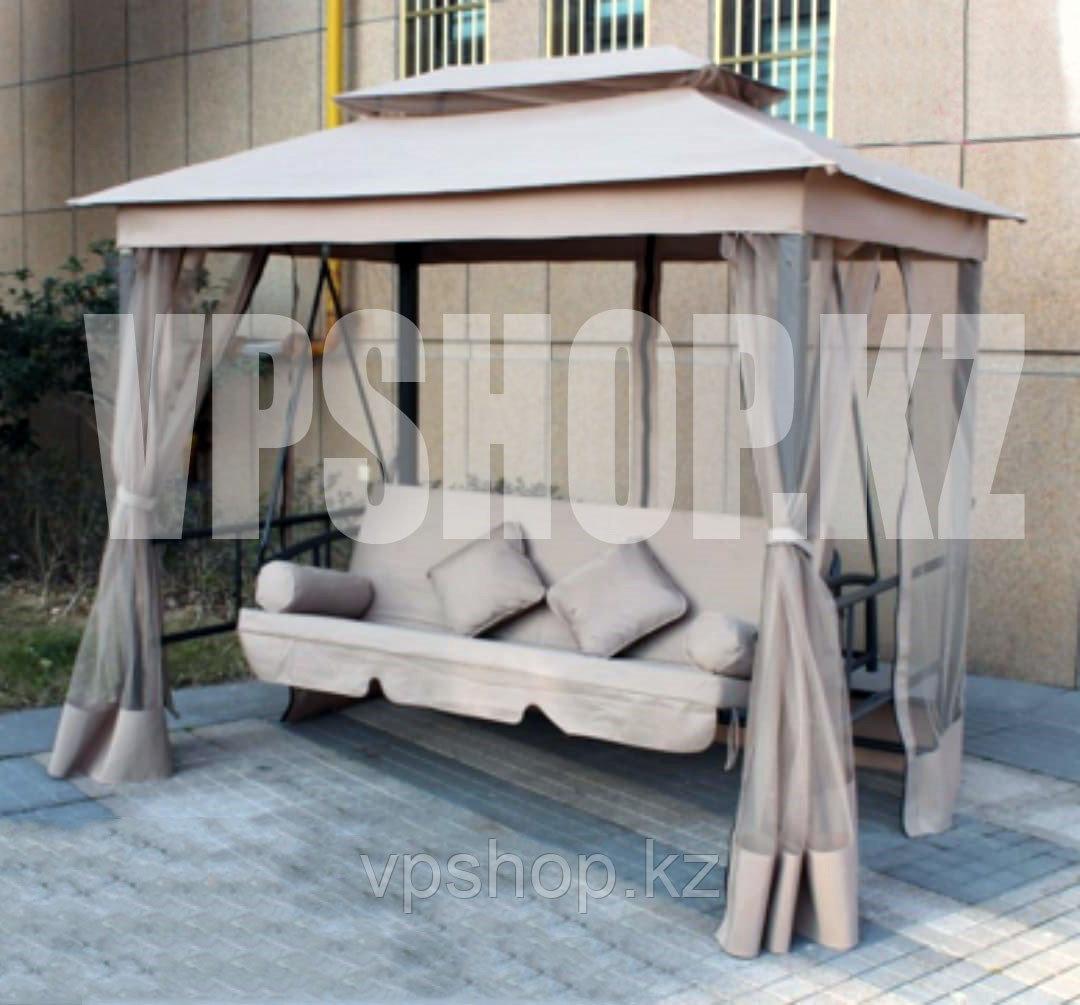 Садовые качели-диван люкс с антимаскитной сеткой, 3-х местная, доставка