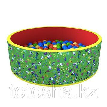 """Сухой бассейн """"Веселая поляна"""" (100 шаров) - зеленый"""
