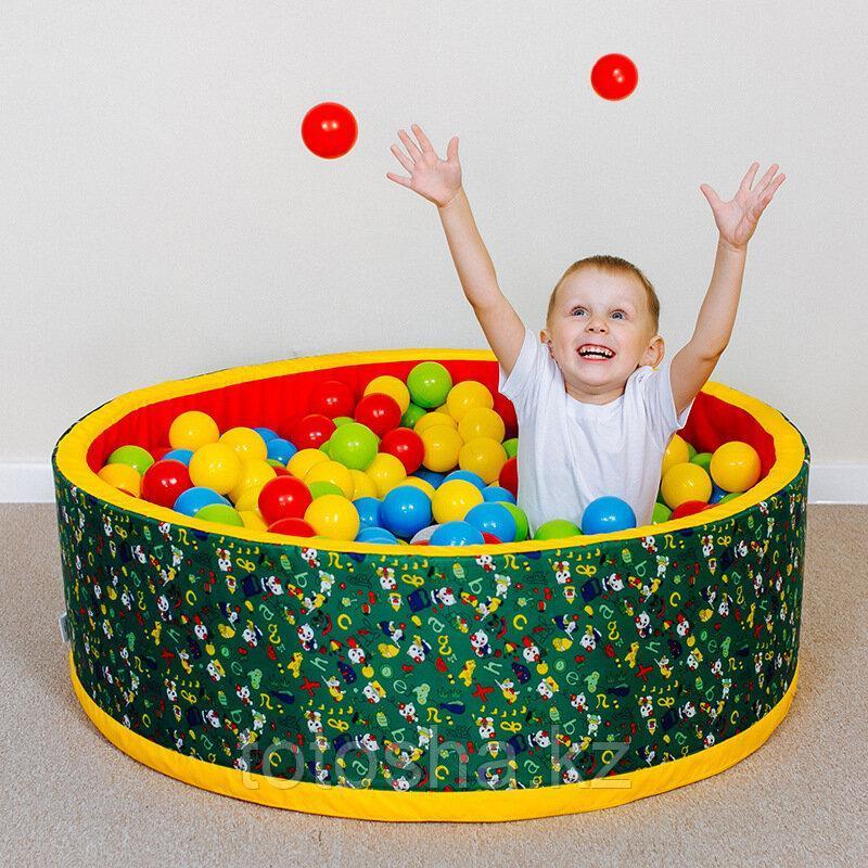 """Сухой бассейн """"Веселая поляна"""" (150 шаров) - зеленый/красный"""