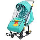 Санки НИКА коляска DISNEY BABY1 (НИКА Санки коляска  DISNEY BABY1 Далматинец голубой)