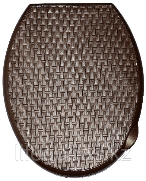 """Сиденье для унитаза жесткое """"Ротанг"""" (коричневый)"""