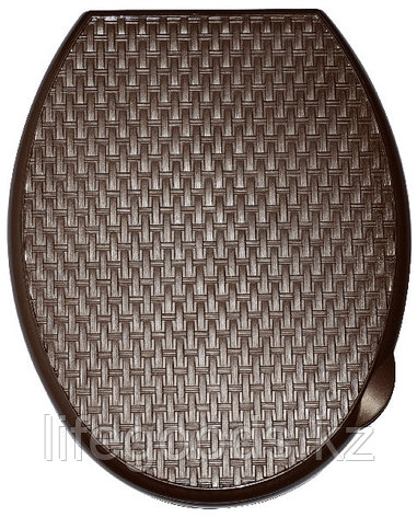 """Сиденье для унитаза жесткое """"Ротанг"""" (коричневый), фото 2"""