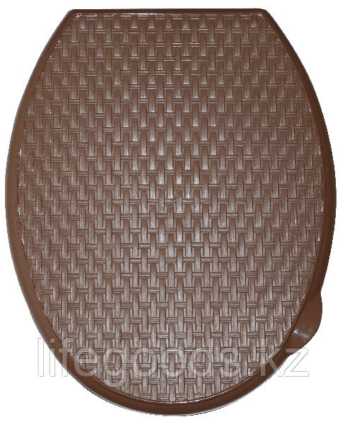 """Сиденье для унитаза жесткое """"Ротанг"""" (какао)"""