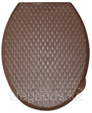 """Сиденье для унитаза жесткое """"Ротанг"""" (какао), фото 2"""