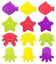 Антискользящие мини-коврики Roxy-Kids для ванны в ассортименте 12 шт/уп