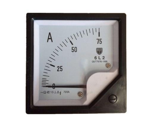 Переменного тока Аналоговый приборной панели 80*80 мм 5A Amp мет