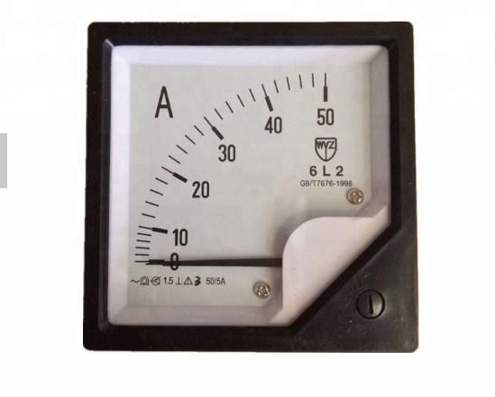 Переменного тока Аналоговый приборной панели 80*80 мм 5A Amp метр, фото 2