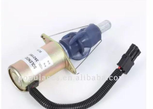Diesel генератор электромагнитного запорный клапан 3921980 3918601 24 В, 3921978 3918600 12 В, фото 2