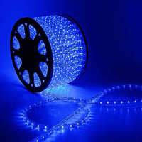 Дюралайт для улицы и помещений - бухта 90 метров, 2 070 лампочек, синий свет, водонепроницаемая