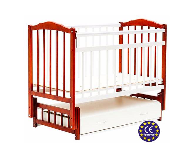 Кровать детская Bambini Классик М 01.10.10 Светлый орех+Белый