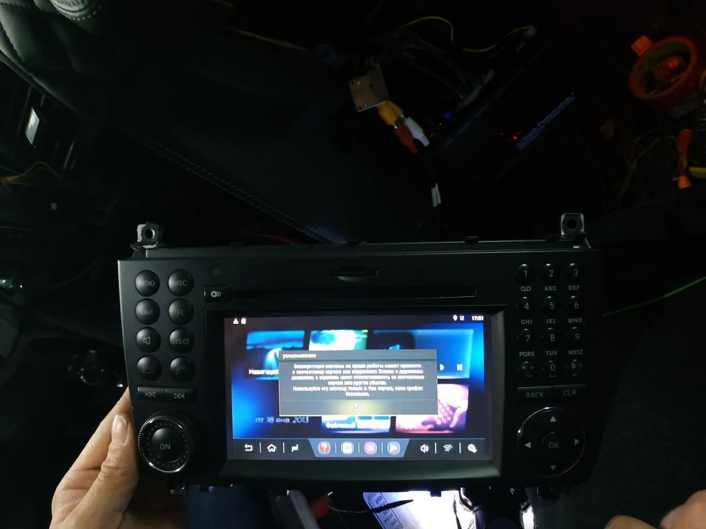 Установлен Android box для Mercedes benz AMG дополнительно инсталлирован сенсорный экран 4