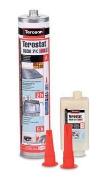 Terostat PU 8630 2K HMLC, 2-х компонентный Клей для а/стекол, 310 мл. (2 часа/5 часов по Euro NCAP)