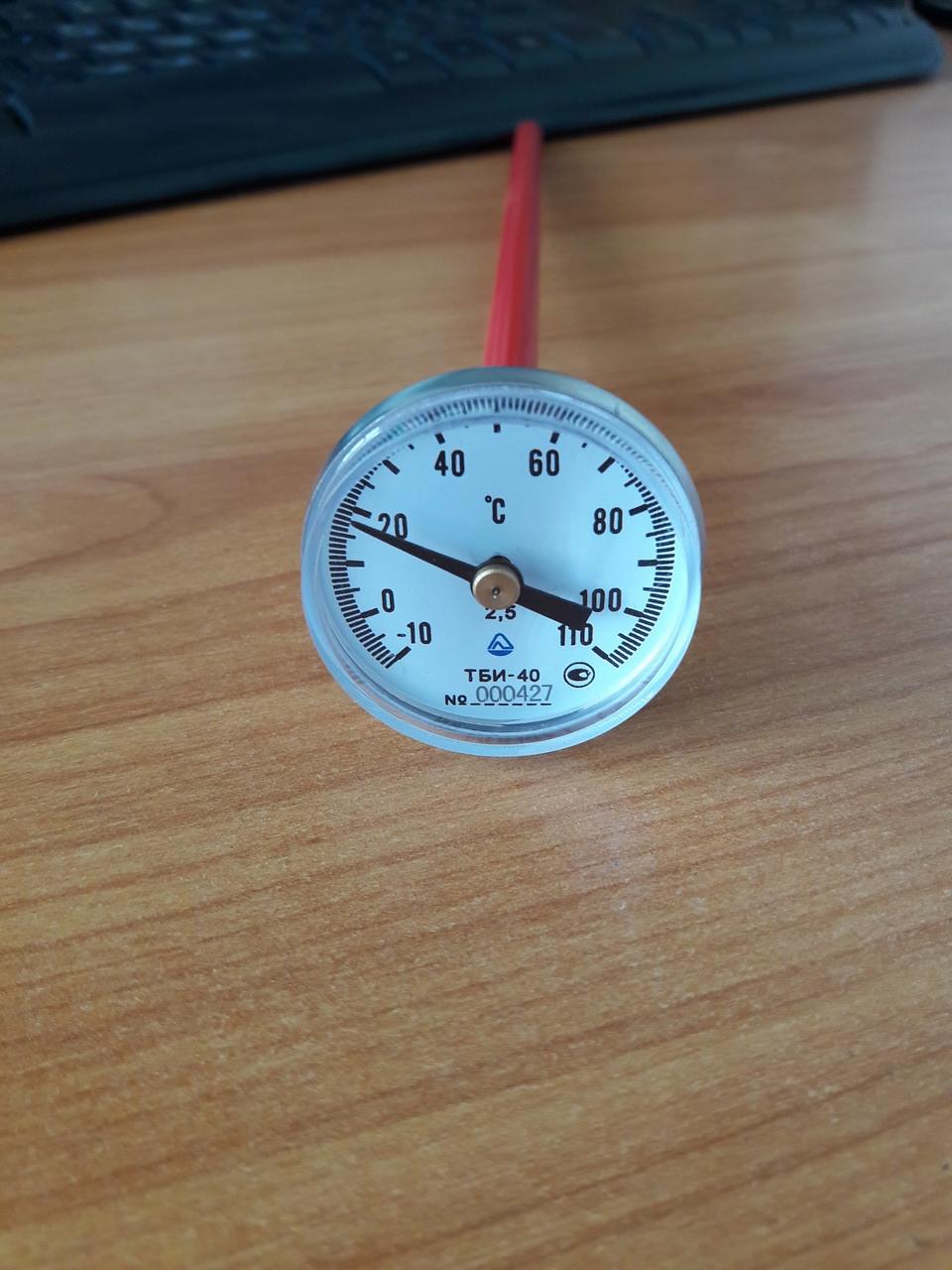 Термометр биметаллический игла ТБИ-10-250-10+110-2.5