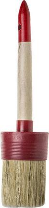 """Кисти круглые STAYER """"MASTER"""", светлая натурал. щетина, пластм. корпус, деревян. ручка, фото 2"""