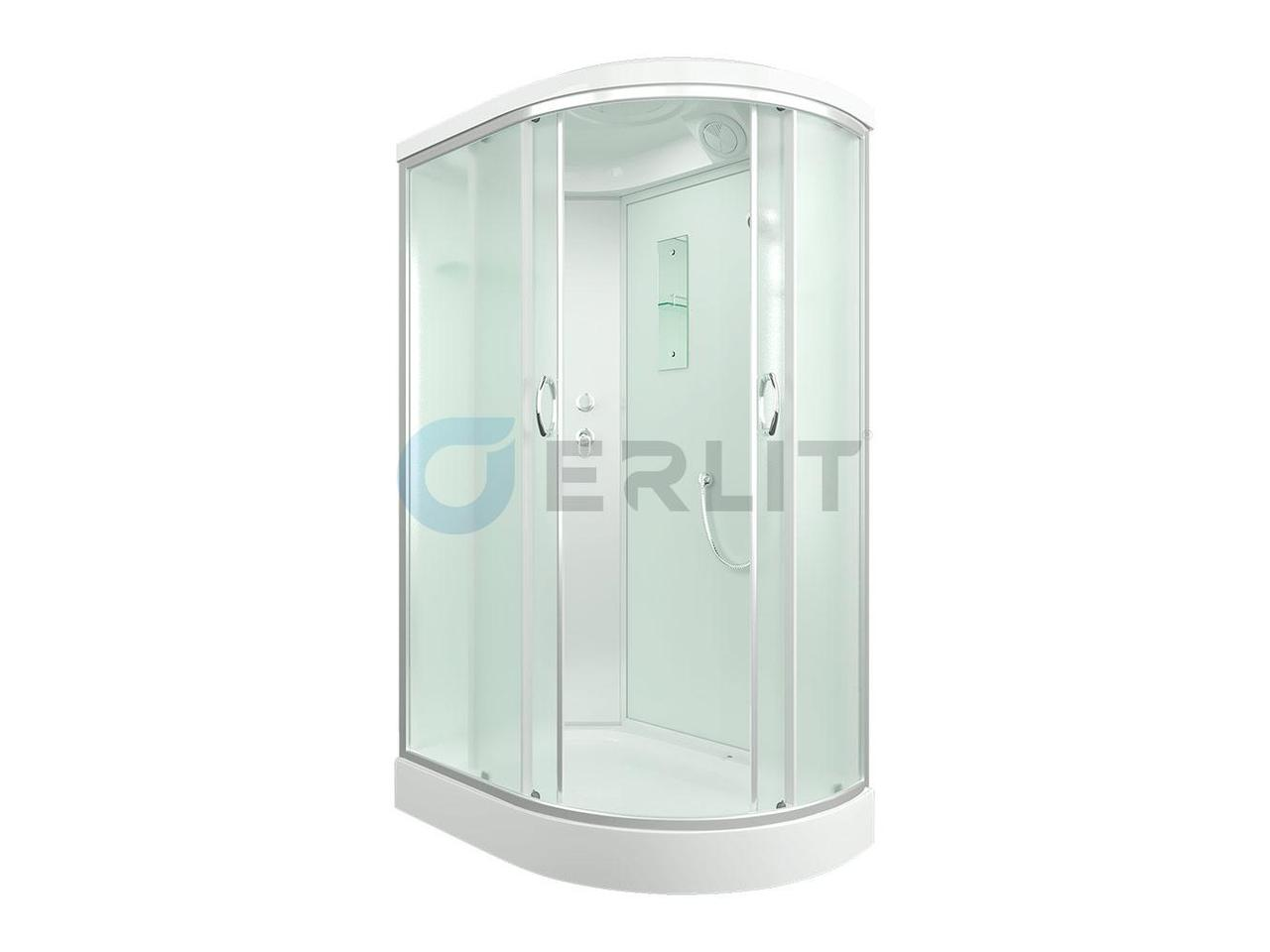 Душевая кабина ERLIT ER3512PL-C3  низкий поддон, матовое стекло