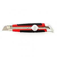 Нож кацелярский 18 мм с выдвижным лезвием и винтовым фиксатором лезвия Matrix