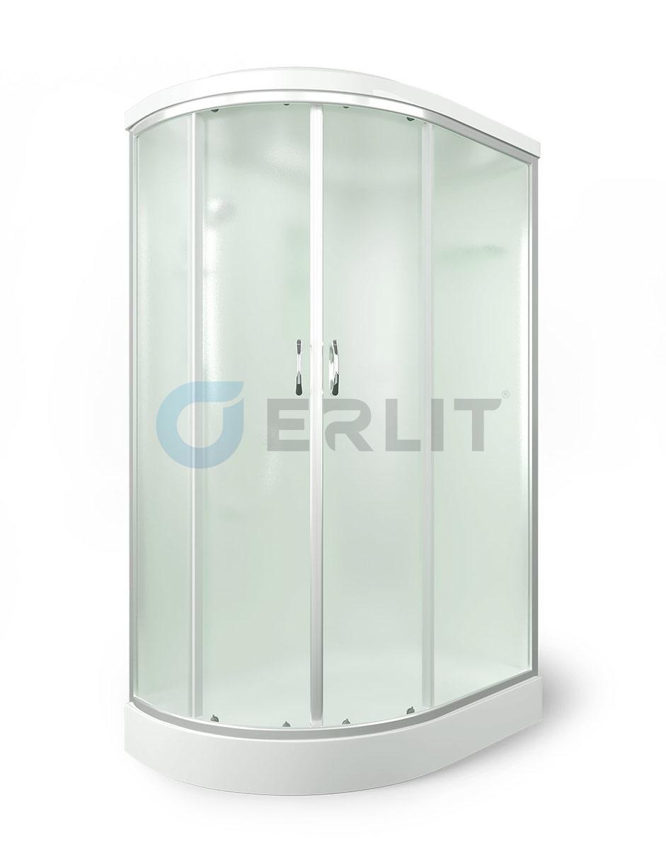 Душевая кабина ERLIT ER3512PR-C3  низкий поддон, матовое стекло