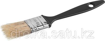 Кисти плоские СИБИН, пластиковая ручка, светлая щетина, фото 2