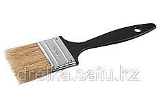 Кисти плоские СИБИН, пластиковая ручка, светлая щетина, фото 3